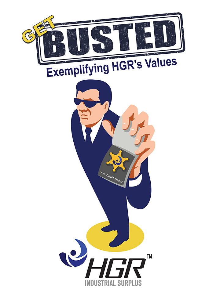 Get Busted exemplifying HGR's values
