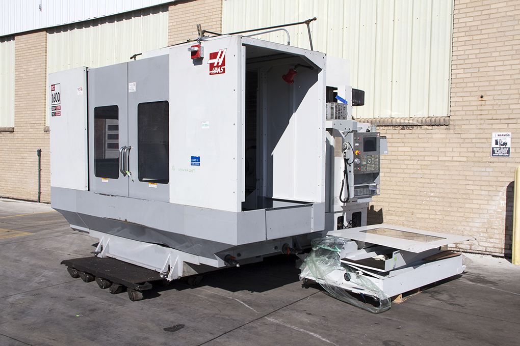 Haas CNC machining center at HGR Industrial Surplus